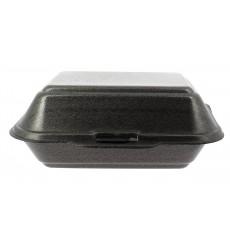 Contenitori Polistirolo Lunchbox Nero 185x155x70mm  (125 Pezzi)