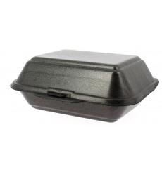 Contenitori Polistirolo Lunchbox Nero 185x155x70mm (500 Pezzi)