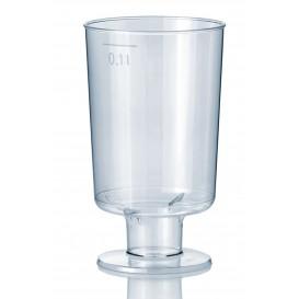 Calice di Plastica con Gambo 100 ml (600Pezzi)