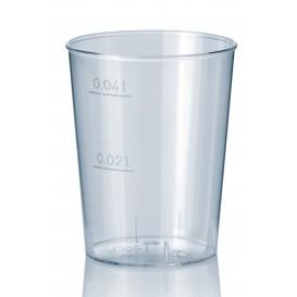 Bicchiere di Plastica Rigida Trasparente PS 40 ml (50 Pezzi)