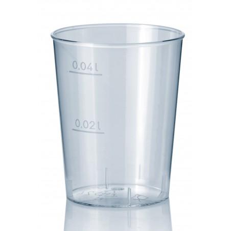 Bicchiere Plastica Rigida Trasparente PS 40 ml (2000 Pezzi)