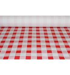 Tovaglia di Carta Rotolo  Quadro Rossos 1x100m. 40g (1 Unità)