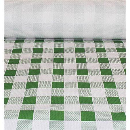 Tovaglia di Carta Rotolo  Quadro Verdes 1x100m. 40g (1 Unità)