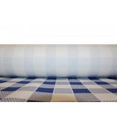 Tovaglia di Carta Rotolo Quadro Blu 1x100m. 40g (1 Unità)