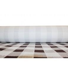 Tovaglia di Carta Rotolo  Quadro Marrones 1x100m. 40g (1 Unità)