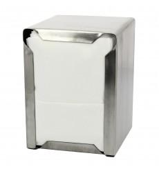Dispenser Tovaglioli Miniservis INOXIDABLE 17x17cm (12 Pezzi)
