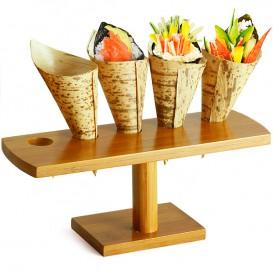 Stand di Bambu per Cono 5 Bucos (10 Pezzi)
