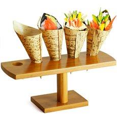 Stand di Bambu per Cono 5 Bucos (10 Unità)
