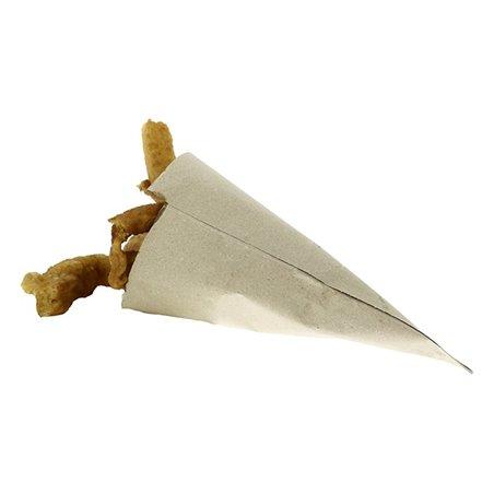 Cono di Carta Marrone 420mm 600g (50 Pezzi)