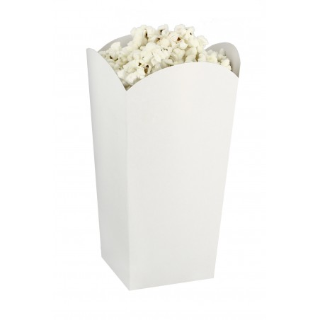 Scatola Pop Corn Piccolo Bianca 45 gr 6,5x8,5x15cm (25 Pezzi)
