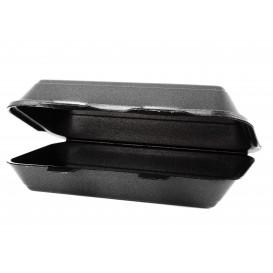 Contenitori Polistirolo LunchBox Nero 240x155x70mm (125 Pezzi)