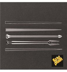 Pick di Plastica Snack Stick Transparente 90mm (6600 Pezzi)