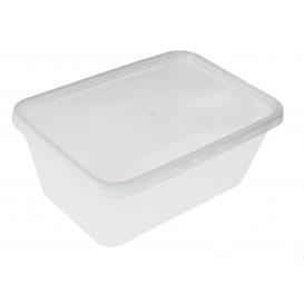 Contenitori di Plastico Rettangolare PP 1000ml (50 Pezzi)