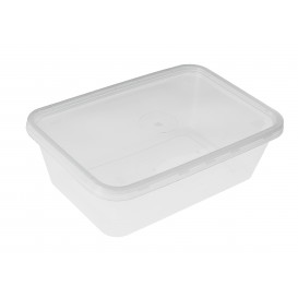 Contenitori di Plastico Rettangolare PP 750ml (50 Pezzi)