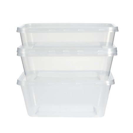 Contenitori di Plastico Rettangolare PP 500ml (500 Pezzi)