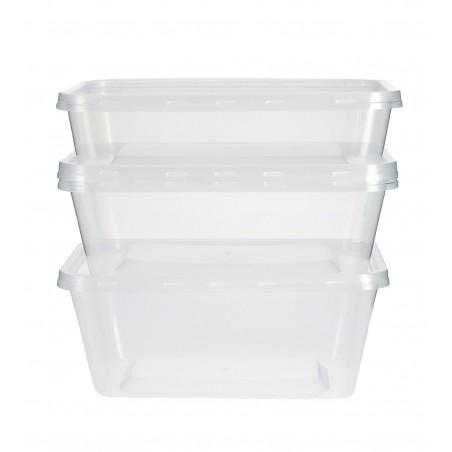 Contenitori di Plastico Rettangolare PP 750ml (500 Pezzi)