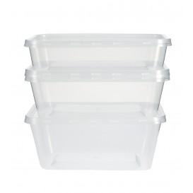 Contenitori di Plastico Rettangolare PP 1000ml (500 Pezzi)