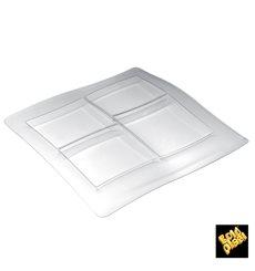Vassoio Food Poker 4 Scomp. 360x360mm (12 Pezzi)