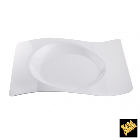 Piatto Degustazione Onde Transparente 8,0x6,6 cm (50 Pezzi)