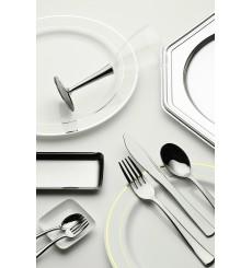 Suttopiatto di Plastica Catering Ottagonali Argento 30 cm (5 Pezzi)