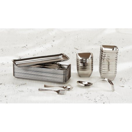 Cucchiaino di Plastica Metallo 130mm (1.000 Pezzi)