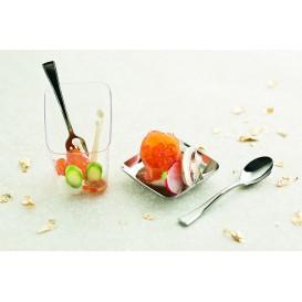 Mini Forchetta di Plastica Metallo 100mm (1.000 Pezzi)