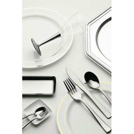 Cucchiaio di Plastica Metallo 175mm (50 Pezzi)