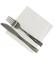 Tovagliolo di Carta 30x30 3 Velis Bianco (75 Pezzi)
