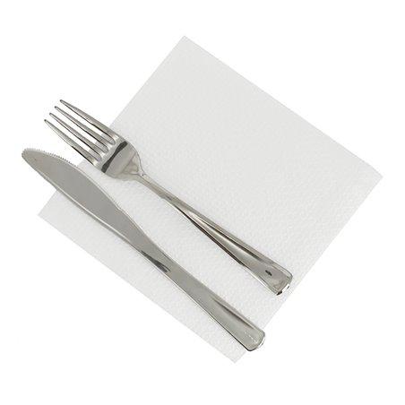 Tovagliolo di Carta 30x30 1 Veli Bianco (100 Pezzi)