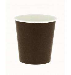 Bicchiere di Carta Ecologico 6Oz/180ml Marrone Ø7,0cm (100 Pezzi)