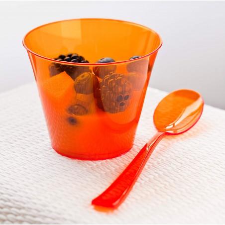 Cucchiaio di Plastica Premium Arancione 160mm (180 Pezzi)