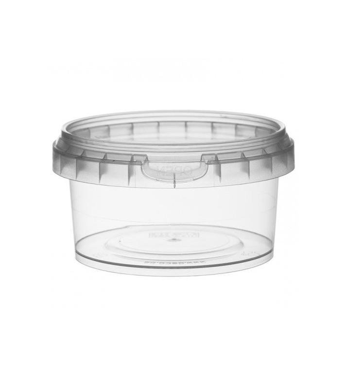 Coppette Plastico con Coperchio Inviolabile 210ml Ø9,5 (13 Pezzi)