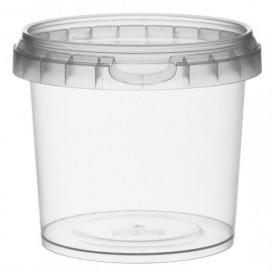 Coppette Plastico con Coperchio Inviolabile 365ml Ø9,5 (24 Pezzi)