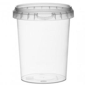 Coppette Plastico con Coperchio Inviolabile 520ml Ø9,5 (380 Pezzi)