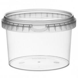 Coppette Plastico con Coperchio Inviolabile 565ml Ø11,8 (22 Pezzi)