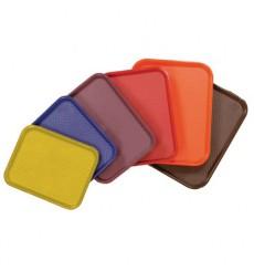 Vassoio Plastica Rigida Rosso 35,5x45,3cm (12 Pezzi)