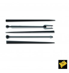 Pick di Plastica Snack Stick Nero 90mm (6600 Pezzi)