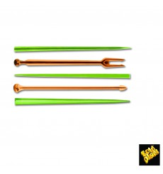 Pick di Plastica Snack Stick Multicolore 90mm (1650 Pezzi)
