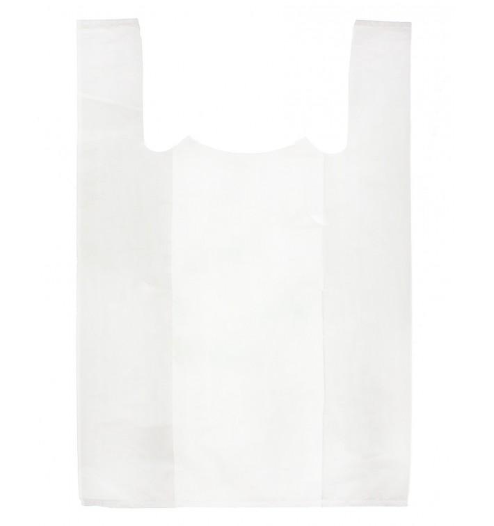Sacchetto di Plastica Canottiera 85x100cm Bianca (50 Pezzi)