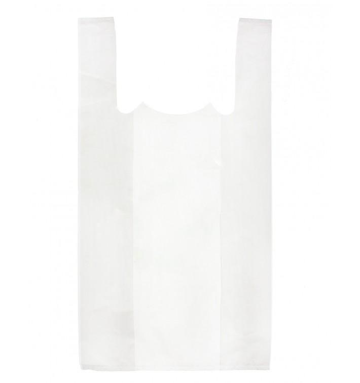 Sacchetto di Plastica Canottiera 40x50cm Bianca (200 Pezzi)