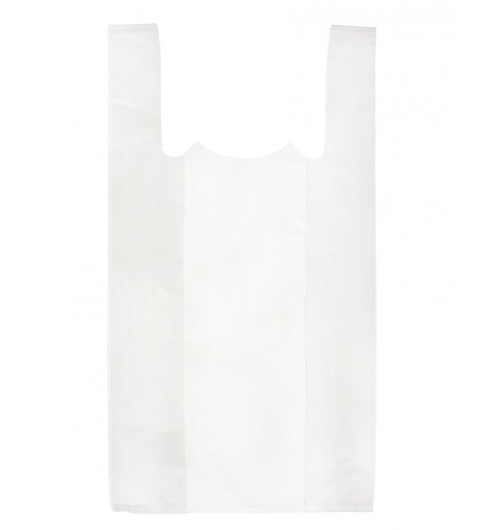 Sacchetto di Plastica Canottiera 40x50cm Bianca (4000 Pezzi)