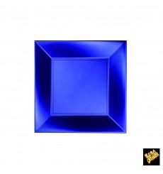 Piatto Plastica Piano Blu Nice Pearl PP 180mm (300 Pezzi)