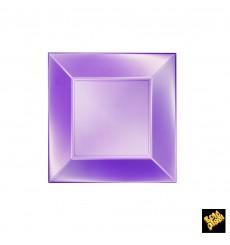 Piatto Plastica Piano Viola Nice Pearl PP 180mm (25 Pezzi)