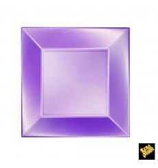 Piatto Plastica Piano Viola Nice Pearl PP 230mm (300 Pezzi)