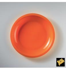 Piatto Plastica Piano Arancione Round PP Ø220mm (50 Pezzi)