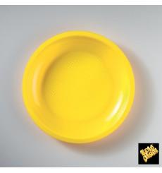 Piatto Plastica Piano Giallo Round PP Ø220mm (50 Pezzi)