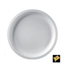 Piatto di Plastica Bianco Round PP Ø290mm (25 Pezzi)