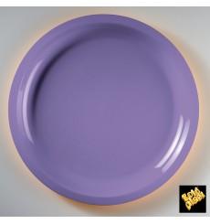 Piatto di Plastica Lilla Round PP Ø290mm (25 Pezzi)