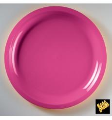 Piatto di Plastica Fucsia Round PP Ø290mm (25 Pezzi)