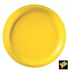 Piatto di Plastica Giallo Round PP Ø290mm (300 Pezzi)